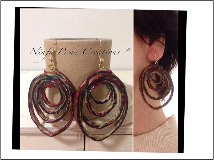 Paper earrings by Ninfa Pema Creations.