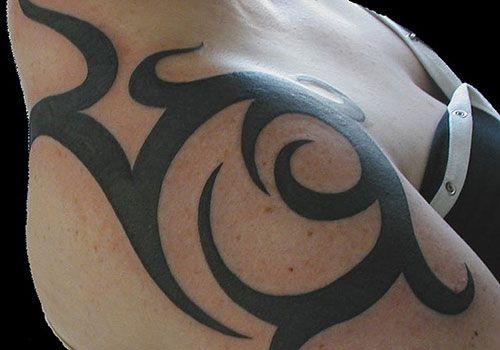 The Popular Tribal Tattoos On Shoulder Designs: Tribal Shoulder Tattoos Designs For Women ~ tattooeve.com Tattoo Design Inspiration