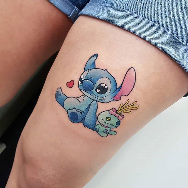 Lunie chan ❤ Stitch and Scrump ❤ Done at Joanna Waldron.tattoo #stitchandscrump #stitchetsouillon #souillon #scrump