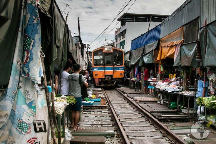 Mercado Mae Klong Banguecoque
