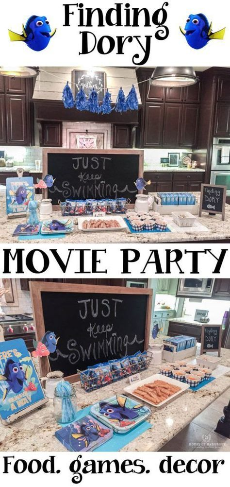 We hosted a finding Dory Movie party with friends and it was so much fun.  Easy and the kids loved it!  Here are all the details