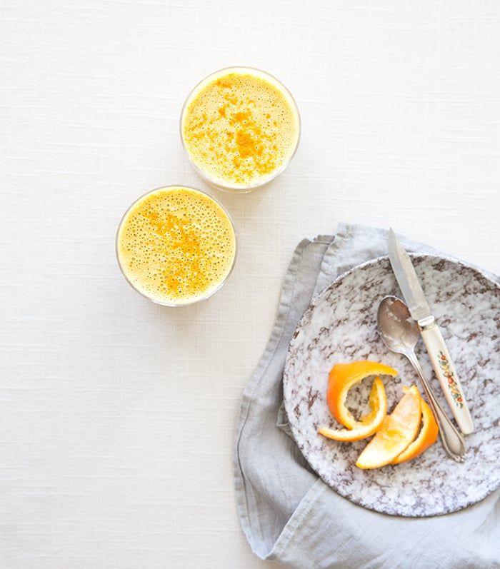 carrot + orange + turmeric (immune boosting!) smoothie