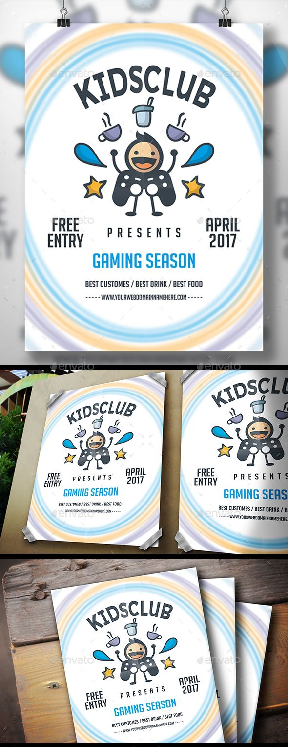 Geek Gaming Flyer — Photoshop PSD #drink party #meeting • Download ➝ https://graphicriver.net/item/geek-gaming-flyer/19514451?ref=pxcr