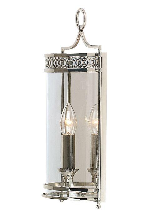 Sandhurst - Lampa wisząca latarnia srebrna -  chrom nikiel