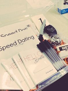 How to start your own speed dating business