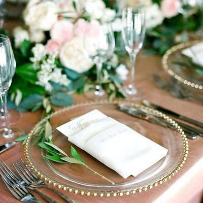 "8er Pack | 12 ""runde goldene Glasperlen-Ladeschalen   – Wedding"