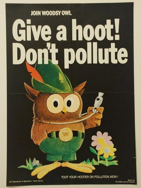 Whatever he says! (An old commercial on pollution!)