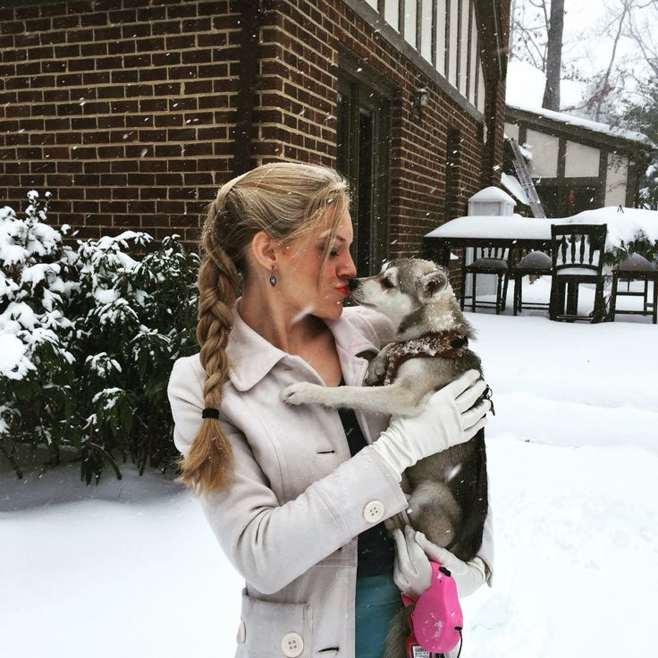 Beautiful Amelia (the Alaskan Klee Kai) and me!  Cute puppy, mini husky, snow dog in the snow!