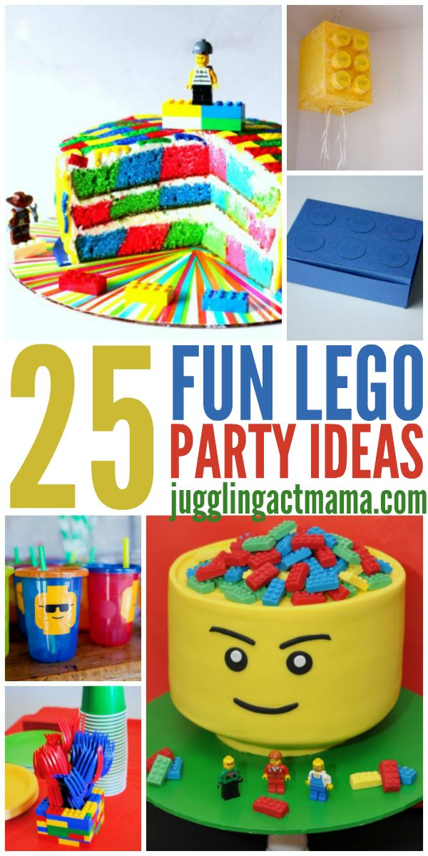 Is your little LEGO fan celebrating a birthday soon? Use this list of easy decor and food LEGO Party Ideas to put together a spectacular LEGO-themed party!