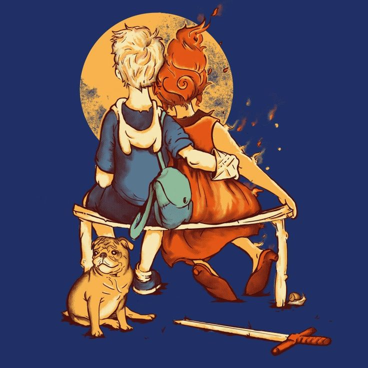 Adventure Time meets Norman Rockwell