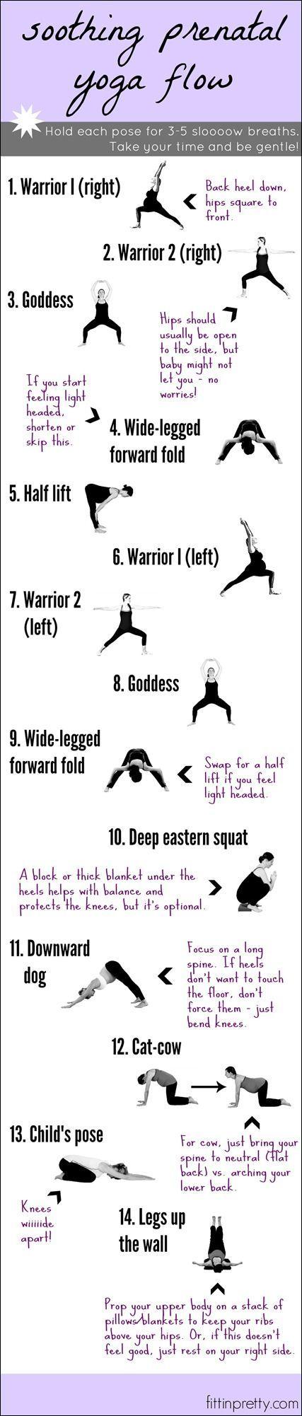 Fließende Yogaübungen