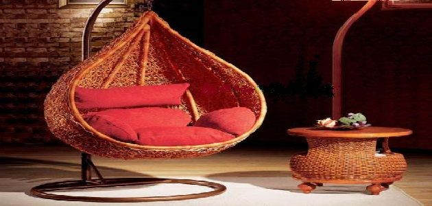 Oriental Rattan Hanging Chair for Living Room