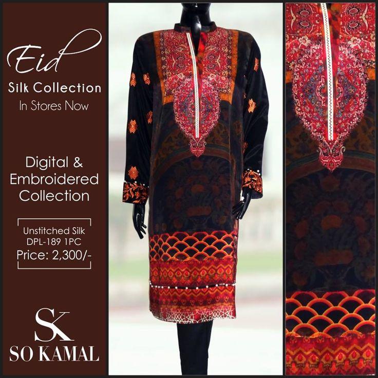 So Kamals Latest Unstitched Eid Silk Dress Collection 2015 http://clothingpk.blogspot.com/2015/09/so-kamals-latest-unstitched-eid-silk-dress-collection.html