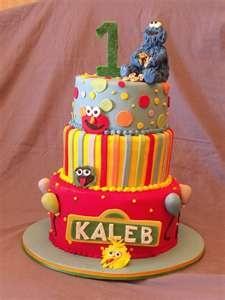 Kids Birthday Cakes Sesame 1st Birthday | Kids Birthday Cakes