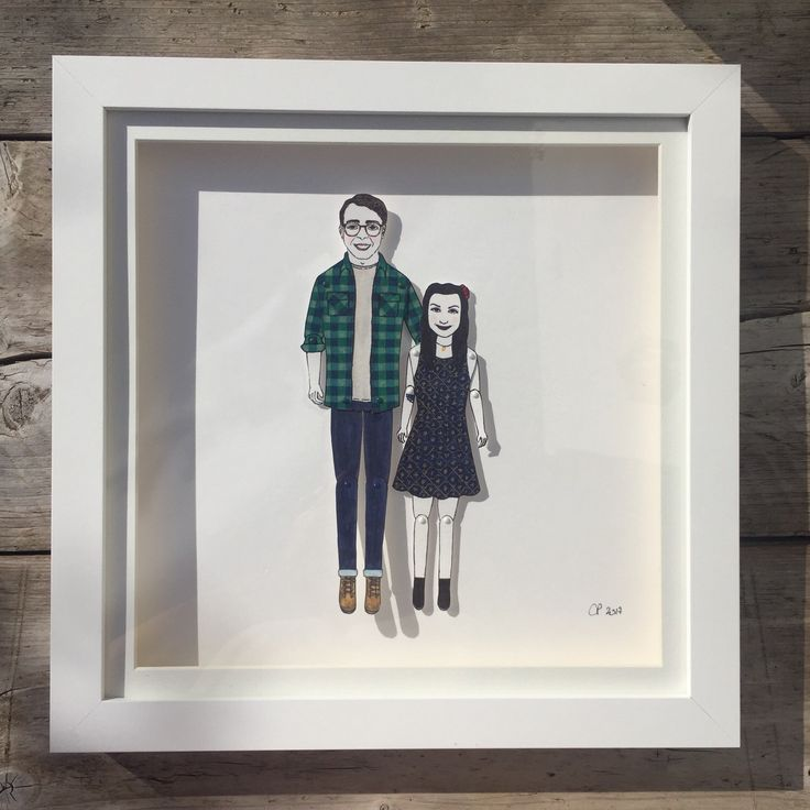 This beauty is on its way to #london  #paperdolls #chunkydumplingpaperdolls #custommade #portraits #couples #personalised #illustration #brightonillustrator #uniquegifts #personalgifts #bespokegifts #etsy