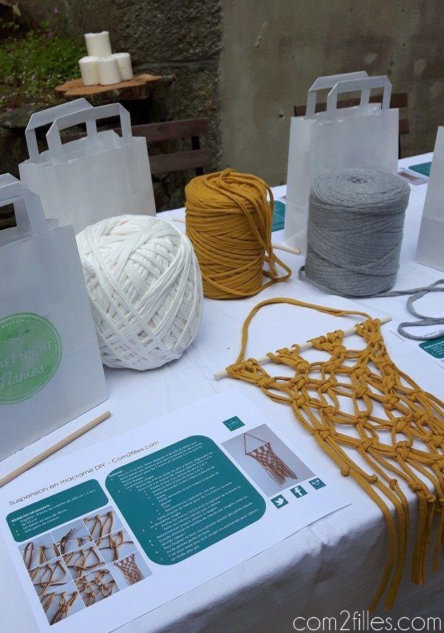 Craft night nantes organisée par dans les boites d'éliaure - atelier DIY - macrame