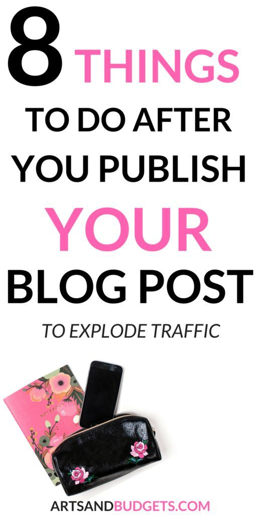 Ever wonder what to do after you publish a blog post on your site to generate more traffic? If so, perfect! This post shares 8 different things you can do after you publish your blog post to skyrocket your traffic to your site!   Blogging Tips  How to Start a Blog  How to grow blog traffic  How to increase following to blog