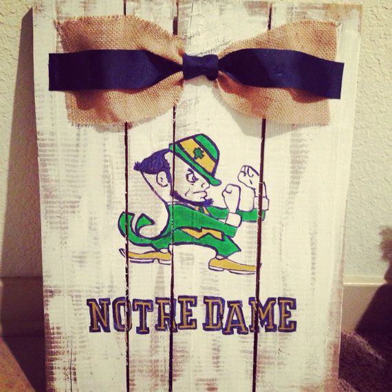 Notre dame football pallet  on Etsy, $50.00