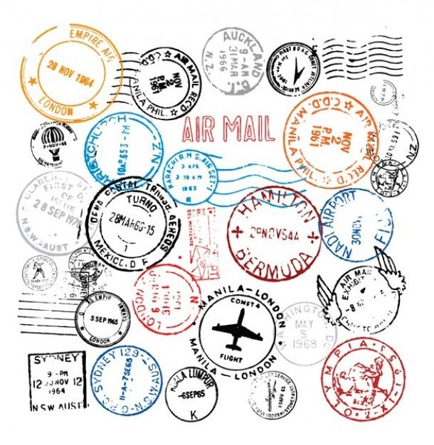Mundo selos carimbo set