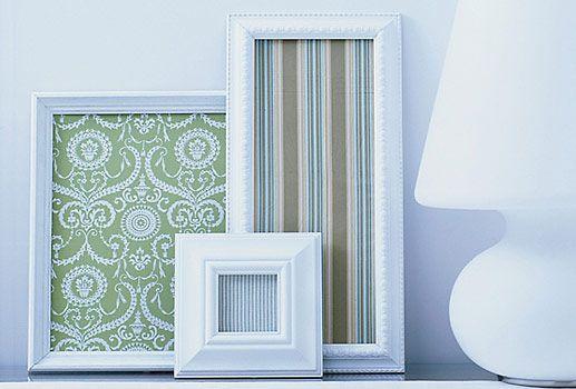 easy DIY projects, DIYFrames Wallpapers, Wall Decor, Decor Ideas, Frames Fabrics, Diy Wall Art, Scrapbook Paper, Wraps Paper, Apartments Decor, Diy Projects