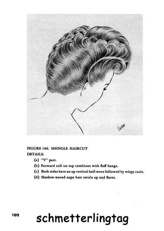 Hairstyles Book Swing Era Illustrated Glamorous 1940s Vintage Hairstyles