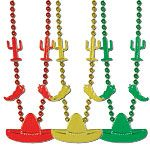 Accessory: Mexican Fiesta Party Bead Necklace - Fiesta (3pk)