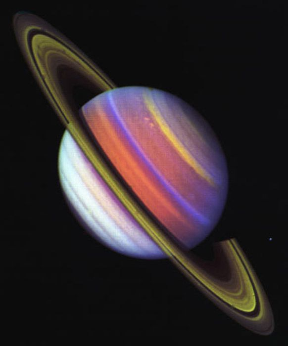 Saturn planet | Image from Voyager | Space & Sagan ...