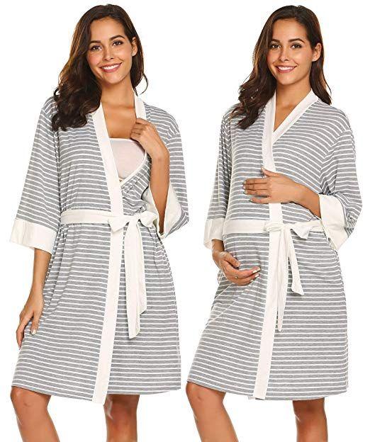 17b746d9492 Ekouaer Nursing Robe