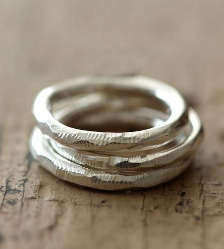 Recycled Sterling Silver Stacking Rings - Giftsoul