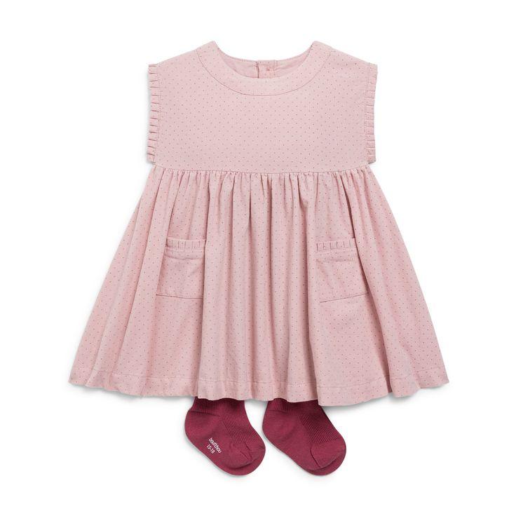 Robe en velours ROSE Bout'Chou – Monoprix.fr