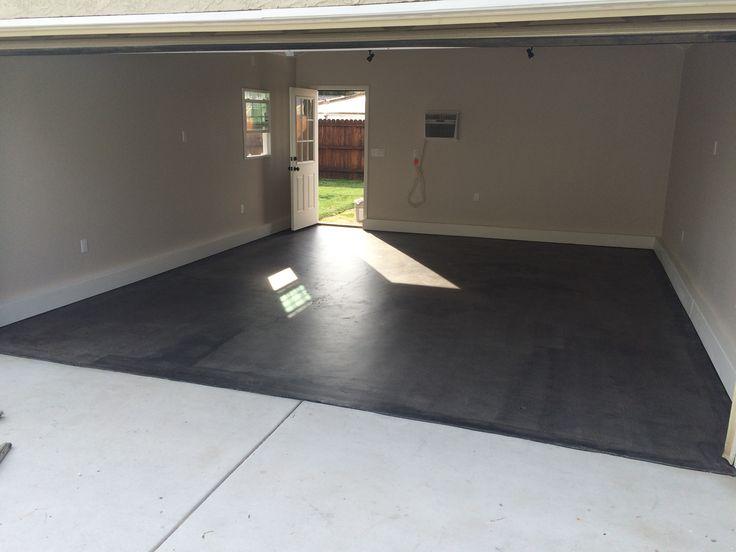 Behr semi transparent concrete stain in dark coal for Garage ad stains