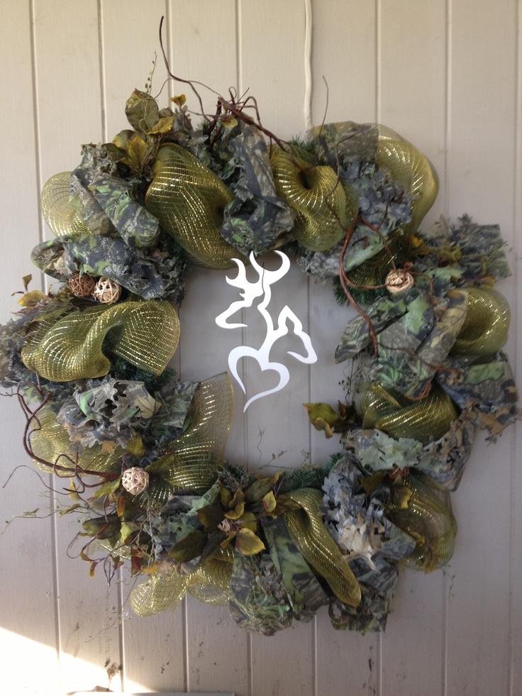 Camouflage decomesh wreath Hunting WreathDeco Mesh