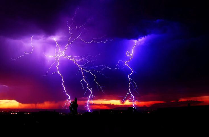 Purple and blue lightning pic