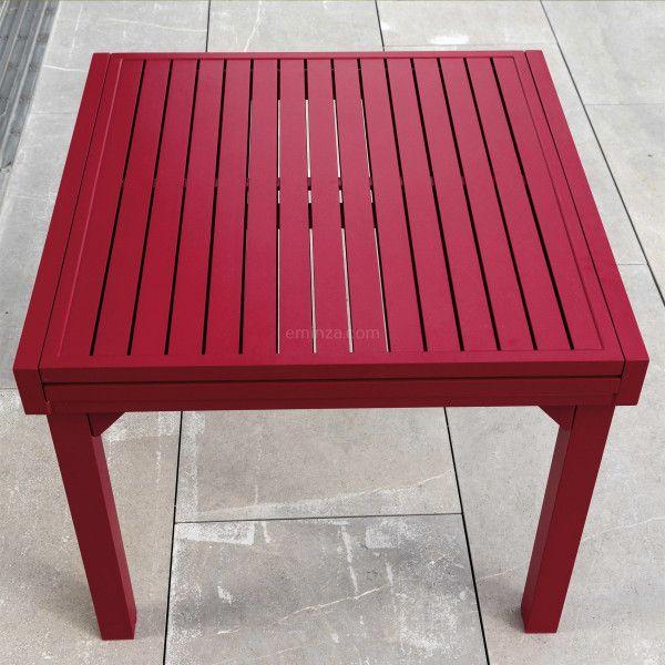 Gartentisch Ausziehbar Murano Aluminium Bis Zu 8 Pers Rot Gartenmobel Loungemobel Eminza Gartentisch Lounge Mobel Gartenmobel