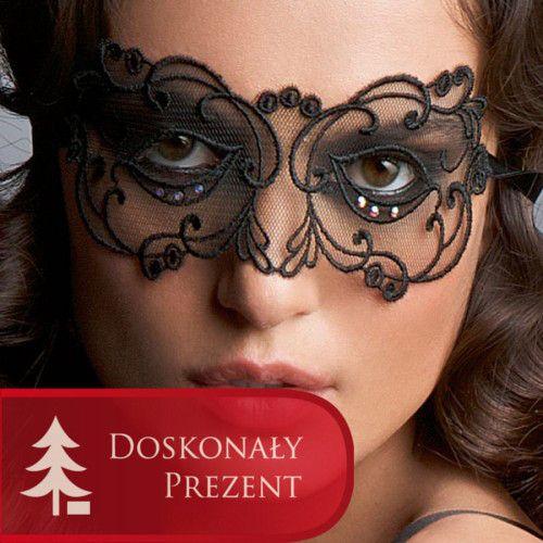 Lise Charmel Soir De Venise Maska Noir Diamant - piękna, koronkowa maska. Dostępna w rozmiarze one size, w cenie 119 zł w naszym sklepie. Zapraszamy serdecznie!
