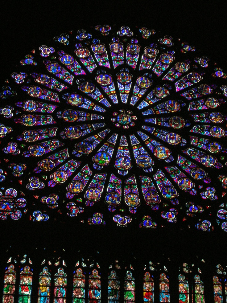 Notre Dame stained glass windows, Paris