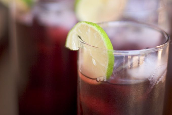 Agua de Jamaica! (Jamaica Flower Ice Tea)   This tea is made form the dry petals of a flower of the genus Hibiscus. Refreshing!