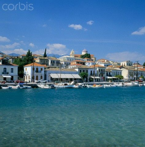 Greece, Peloponnese, Gulf of Itea, Fokida, Galaxidi Village