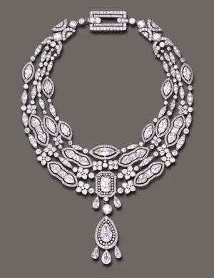 Belle Epoque Diamond and Pearl Pendant Necklace  from Cartier Valued at 800,000-1,200,000. USD