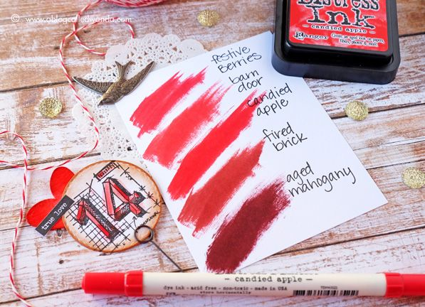 Distress Ink Color Pop: Candied Apple!
