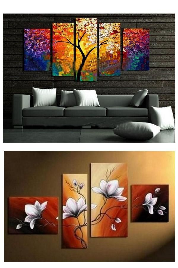 Abstract Painting, Flower Painting, Heavy Texture Art, Canvas ...
