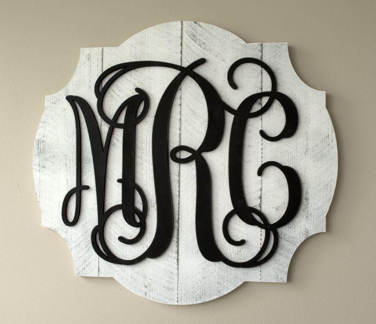 Personalized Pallet Wood Vine Monogram Word Art Cutout 3D Wood Monogram by mrcwoodproducts on Etsy https://www.etsy.com/listing/230619095/personalized-pallet-wood-vine-monogram