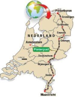 Pieterpad 492 km van Pieterburen naar St.Pietersberg Al 6 jaar nog 2 dagen... Laatste stukje