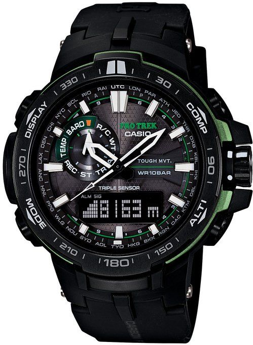 CASIO PROTREK TRIPLE SENSOR VER.3 (PRW-6000Y-1AJF) MENS WRISTWATCH SOLAR 6 MULTIBANDS (JAPANESE MODEL)