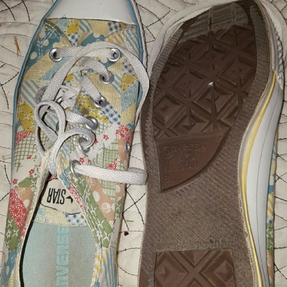 Patchwork Converse sz 10 Gently used ladies converse sz 10 Converse Shoes Sneakers