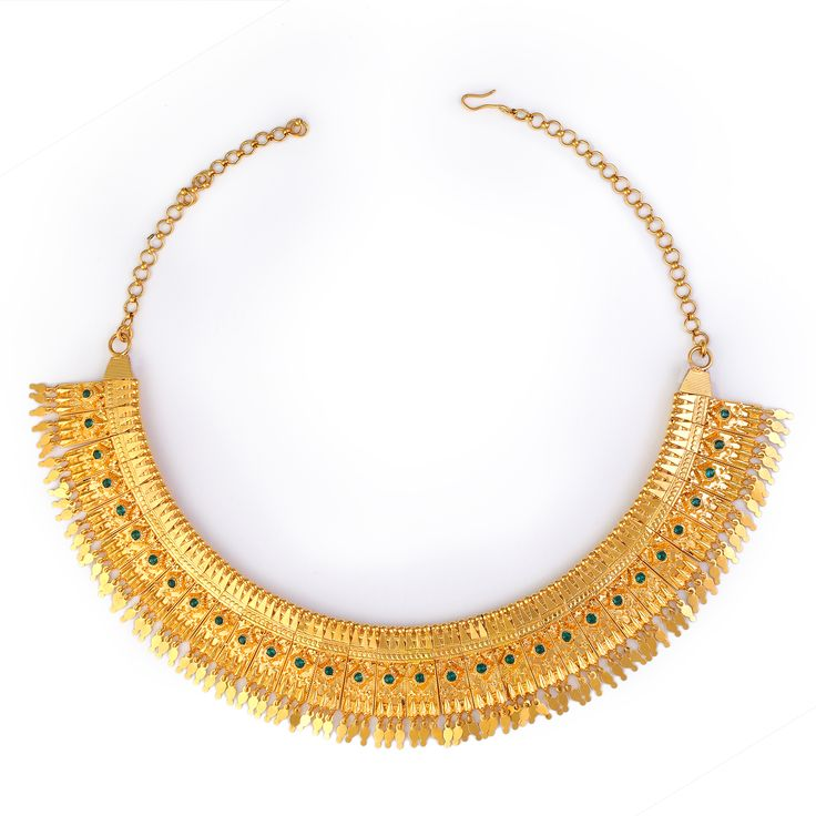 Green Poothali Necklace