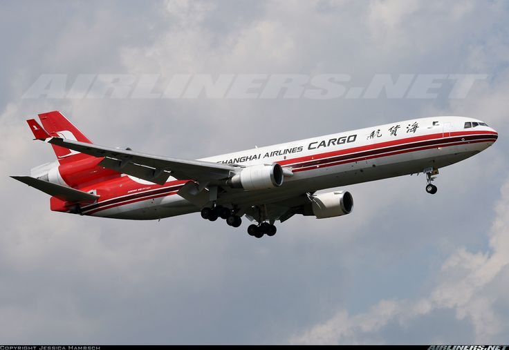 McDonnell Douglas MD-11F, Shanghai Airlines Cargo, B-2179, cn 48545/587, first flight May 1995 (EVA Air Cargo), Shanghai Airlines Cargo delivered 2.6.2008. Foto: Frankfurt, Germany, 30.7.2008.