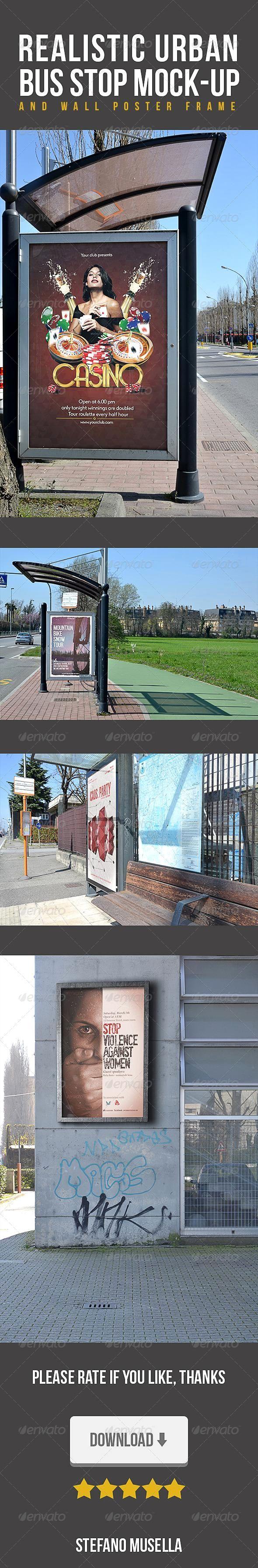Realistic Urban Stop Bus Mockup for $7  #mockups #psd #flyer #FlyerMockup #Flyer...