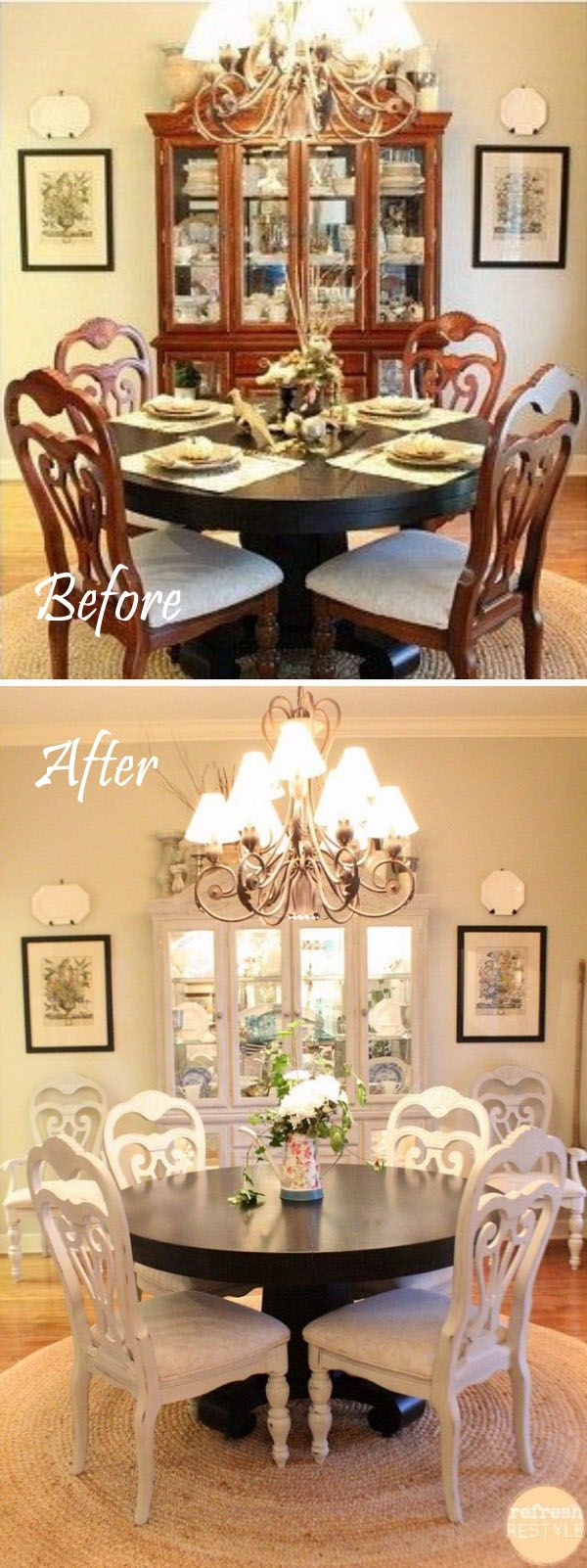 Easy And Budget Friendly Dining Room Makeover Ideas. 25  best ideas about Dining Room Makeovers on Pinterest   Chair