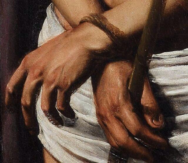 Caravaggio: Details from Ecce Homo (c. 1605)